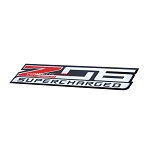 C7 Corvette Z06 2015-2019 Stamped Aluminum OEM Style Decal