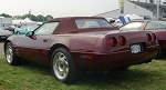 C4 Corvette 1993 Convertible Top - Ruby Red Original Stafast