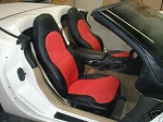 C5 Corvette 1997-2004 Synthetic Leather or Faux Suede Seat Covers - Multiple Color Selections