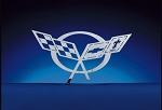 C5 Corvette 1997-2004 Brushed Small Wall Hanging Emblems - Multiple Logo Options