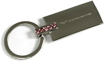 C5 Corvette 1997-2004 Pink Rhinestone Etched Key Chain/Fob