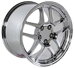 C5 Corvette 1997-2004 Fitments Corvette Deep Dish 17x9.5/18x10.5 Chrome Z06 Wheels