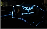C6 Corvette 2005-2013 Laser-Etched & Illuminated WindRestrictor - Convertible