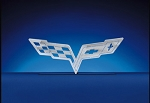 C6 Corvette 2005-2013 Brushed Large Wall Hanging Emblems - Multiple Logo Options