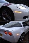 C6 Corvette 2005-2013 LED Side Marker Replacements - Full Set - Clear Finish