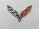 C7 Corvette Stingray/Z06/Grand Sport 2014+ Crossed Flags Emblem - Mini