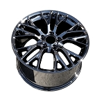 C7 Corvette Black Chrome OEM Style Z06 Wheels - Fitment For C6 Z06/GS 18x9.5/19x12