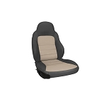 C6 Corvette 2005-2011 Two-Tone Leather Seat Covers - Standard Seats
