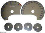 C6 Corvette Base/ZR1/Z06 2005-2013 Gauge Faceplate Replacements - Stainless Steel