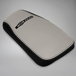 C5 Corvette Z06 2001-2004 Logo Leather Console Covers - Two-Tone - Light Gray