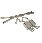 C6 Corvette 2005-2008 Quad Cruiser Exhaust & X-Pipe Combo
