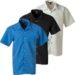 C7 Corvette 2014-2019 Textured Collared Button Down Harriton Camp Shirt - 3 Color Options