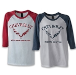 C7 Corvette 2014-2019 Youth Major League 3/4 Sleeve T-Shirt