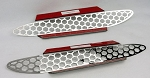 C6 Corvette 2005-2013 Matrix Series Polished Stainless Steel Side Vent Grilles - 2pcs