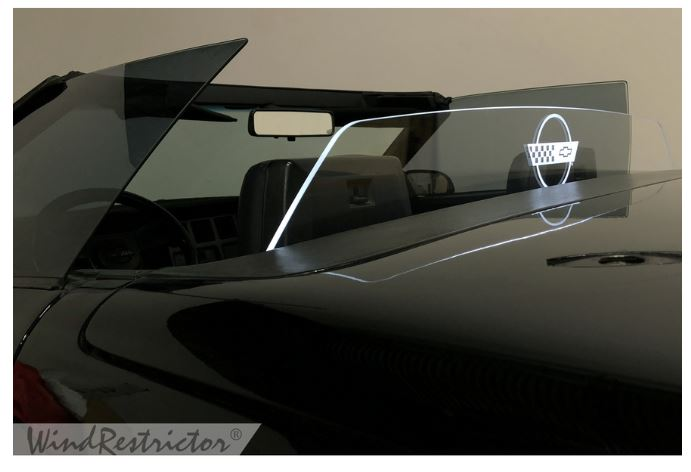 C4 Corvette Convertible 1984-1996 WindRestrictor Etched & Illuminated Wind Deflector