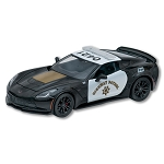 C7 Z06 Corvette 2015 1:24th Black & White Highway Patrol Diecast Model