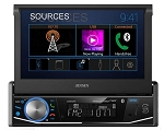 Jensen Single DIN 7 inch Motorized, Touchscreen, Mechless Multimedia Receiver