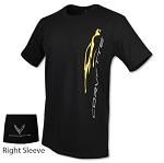 C8 Next Gen Corvette 2020+ Vertical Gesture T-Shirt w/ Logos - Size Options