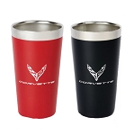 C8 Next Gen Corvette 2020+ Omni Stainless Steel Thermal Pint w/ Logo - Color Options