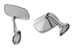 C3 Corvette 1969-1979 Door Chrome Kit - Mirrors and Door Handles