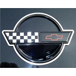 C4 Corvette 1987 and 1989-1990 Emblem Trim Rings Polished 2Pc