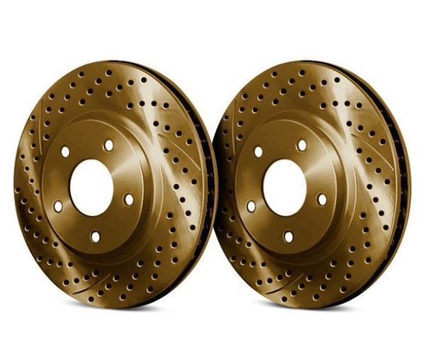 Front /& Rear Drilled Slotted Brake Discs Rotors /& Performance Pads C4 FREE S/&H