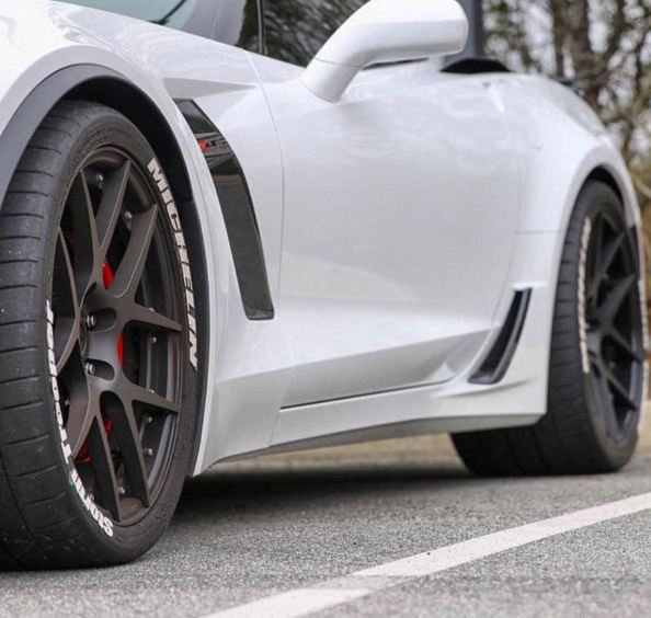 Custom Script Tire Stickers Full Kits Corvette Mods