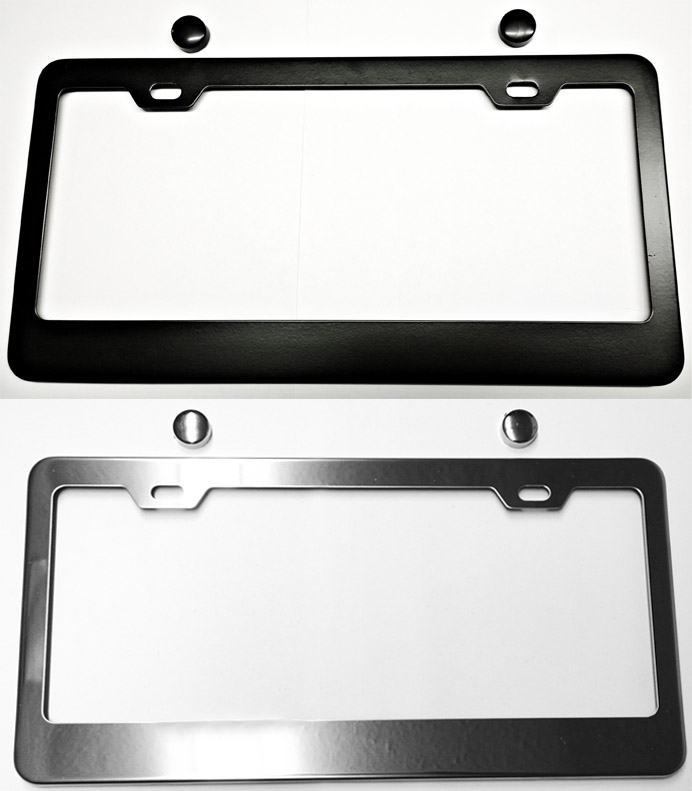 C5 C6 Corvette 1997-2013 Metal License Plate Frames - Chrome or ...