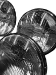 C3 Corvette 1968-1982 Correct Reproduction Sealed Beam Headlight - 4 Bulb Set