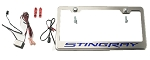 C7 Corvette Stingray 2014+ License Plate Frame - Illuminated Stingray Script
