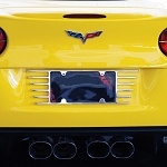 C6 C7 Corvette 2005-2014+ Open End License Plate Frame Billet