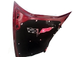 C6 Corvette 2005-2013 Hood Panel C6 Crossed Flags Badge
