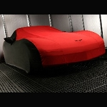 Corvette C6 05-13 GM Outdoor Car Cover w/ Crossed Flag Logo