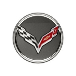 C7 Corvette Stingray/Z06/Grand Sport 2014+ GM Center Cap - Crossed-Flag Logo