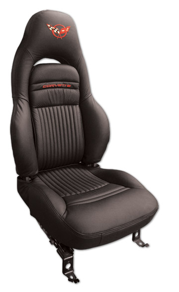 c5 corvette 1997 2004 embroidered 100 leather seat covers solid corvette mods. Black Bedroom Furniture Sets. Home Design Ideas