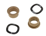 C3 Corvette 1968-1979 Manual Window Crank Shaft Bushing w/ Washer - 4pc Set
