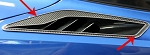 C7 Corvette Stingray 2014+ Carbon Fiber Rear Quarter Vent Trim Set - 2 pc