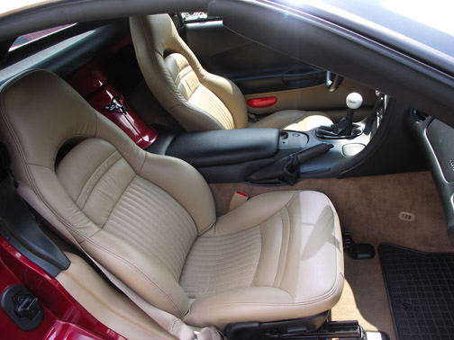 C5 Corvette 1997 2004 100 Leather Seat Covers Solid