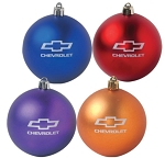 Chevrolet Bowtie & Script Shatter-Proof Christmas Ornaments - 4 Color Options