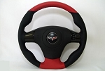 C7 Corvette Stingray 2014-2019 Two-Tone/Solid Leather Steering Wheel Cover