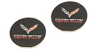 C2 C3 C4 C5 C6 C7 Corvette 1963-2019 Corvette Racing Car Coasters - Set of 2