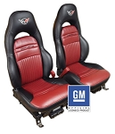 C5 Corvette 1997-2004 Two-Tone Leather Seat Covers - Sport Seat