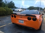 C6 ZR1 Corvette 2005-2013 Wickerbill Spoiler Set - Finish Selection