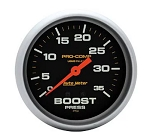 AutoMeter Pro-Comp 2-5/8 inch Mechanical Boost Pressure Gauge, Liquid Filled, 0-35 psi