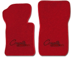 C2 Corvette 1963-1965 Lloyds Ultimat Front Floor Mats w/ Custom Embroidered Script - Several Color Options