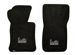 C2 Corvette 1966-1967 Lloyds Ultimat Front Floor Mats w/ Custom Embroidered Script - Several Color Options