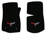C3 Corvette 1968-1982 Lloyd Velourtex Floor Mats With Embroidered Crossed-Flags Logos