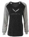 C7 Corvette 2014-2019 Ladies Bling V-Neck Pullover - Size Options