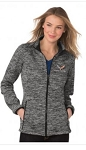C7 Corvette 2014+ Ladies Electric Heather Full-Zip Jacket - Size Option