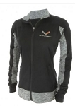 C7 Corvette 2014-2019 Ladies Black & Carbon Heather Full-Zip Jacket - Size Options